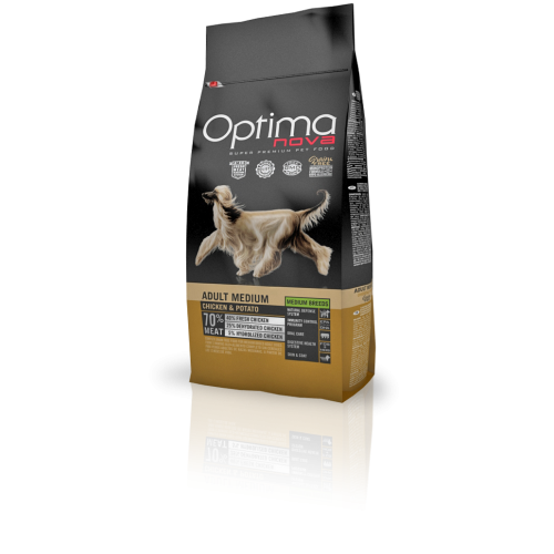 Optima Nova Grain Free Adult Medium Chicken & Potato 12 Kg