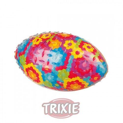 Trixie Pelota de Rugby, Caucho Termoplástico (TPR), 15 cm