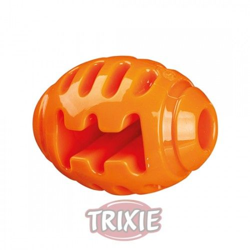Trixie Pelota de Rugby Soft & Strong (TPR) 8cm, Naranja