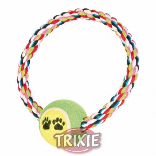 Trixie Anilla de algodón c/pelota tenis ø 18 cm, ø 6 cm