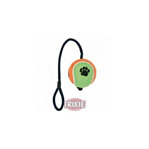 Trixie Pelota tenis con cuerda, ø 10 cm, 40 cm