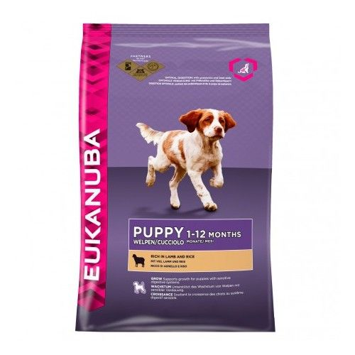 Eukanuba Puppy Rich in Lamb and Rice 12 Kg