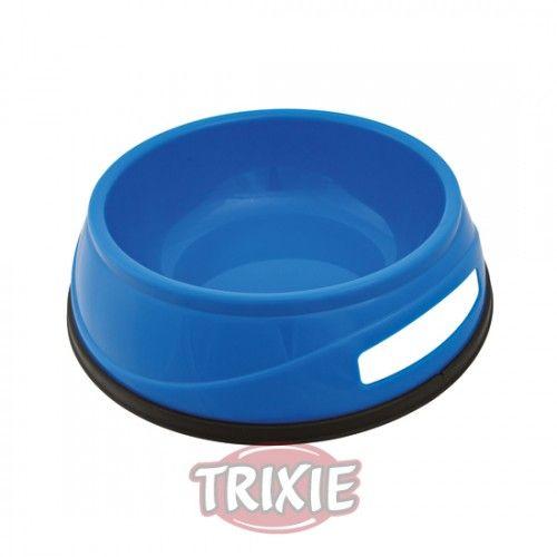 Trixie Comedero Plást. Pesado, Anillo Caucho, 1.5l, ø20cm