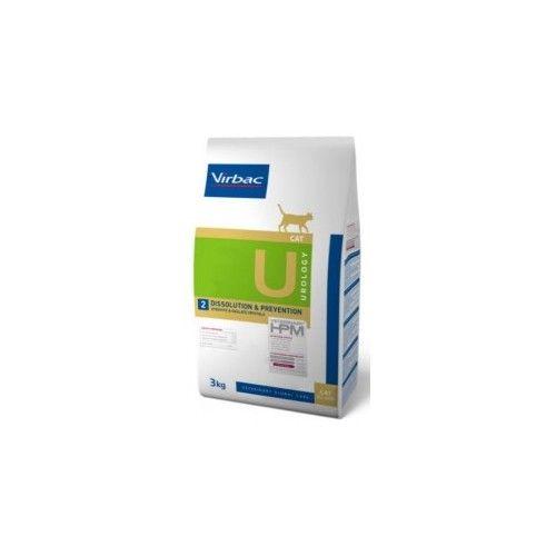 Virbac HPM Dieta para gatos U2-cat urology dissolution & prevention 3 Kg