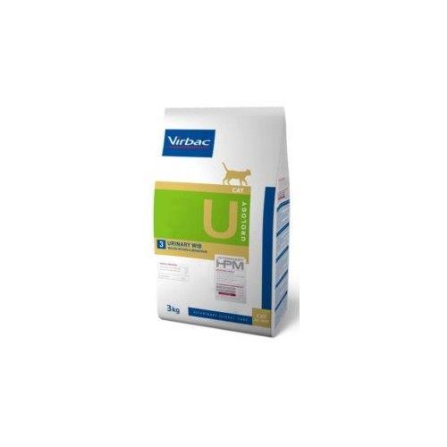 Virbac HPM Dieta para gatos U3-cat urology urinary WIB 3 Kg