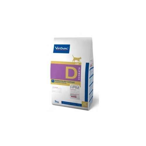 Virbac HPM Dieta para gatos D1-cat dermatology  3 Kg