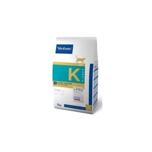 Virbac HPM Dieta para gatos K1-cat kidney 3 Kg