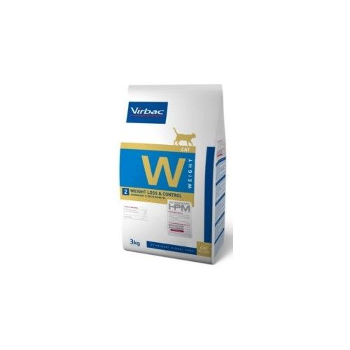 Virbac HPM Dieta para gatos W2-cat weight loss & control 3 Kg