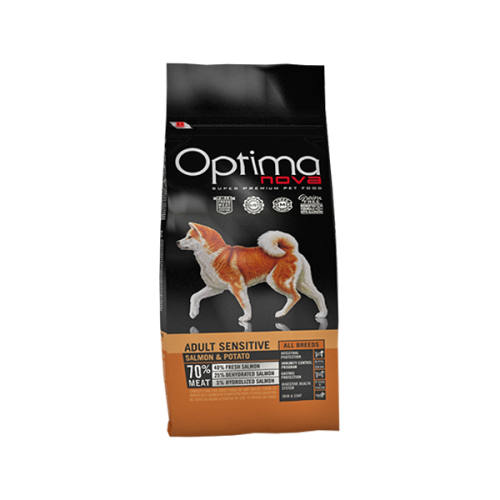 Optima nova Grain Free adult sensitive salmon & potato 12 Kg