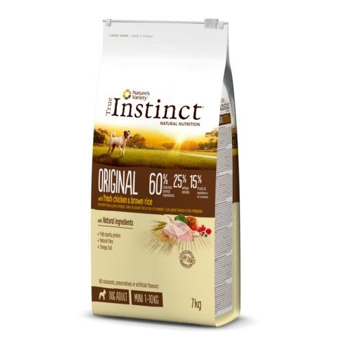 True Instinct pienso para perros adultos Original Mini con pollo 7 Kg