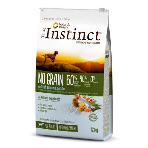 True Instinct pienso para perros adultos No Grain salmón 12 Kg