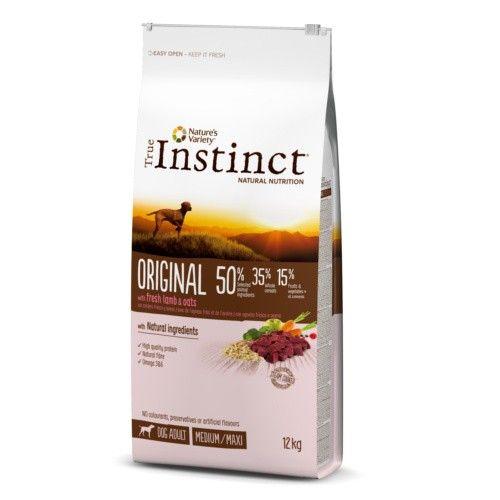 True Instinct pienso para perros adultos Original con cordero 12 Kg