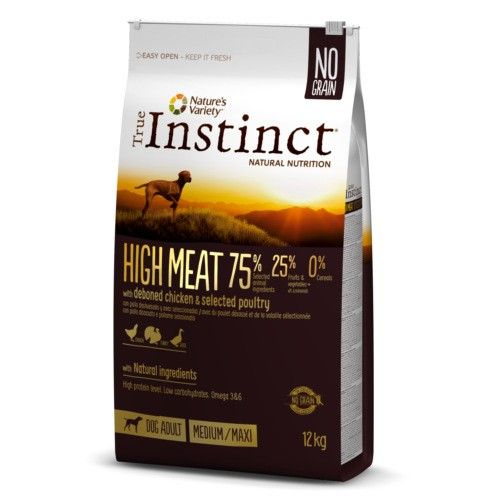 True Instinct pienso para perros adultos High Meat pollo 12 Kg