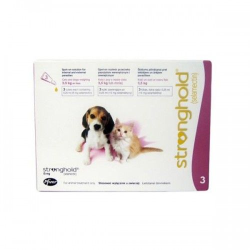 Zoetis Stronghold cachorros y gatos (3 pipetas) 15 mg