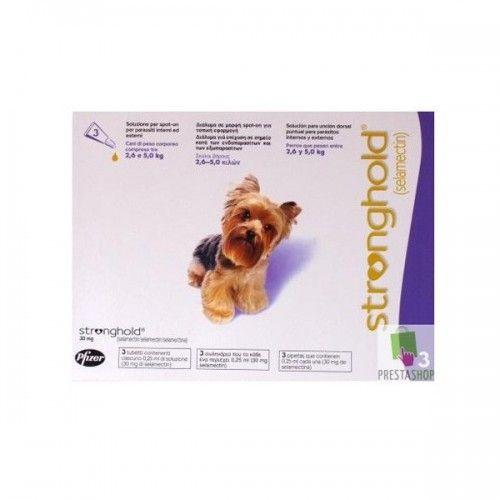 Stronghold perros de 2,6 a 5kg (3 pipetas)