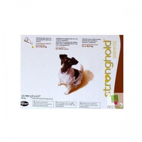 Stronghold perros de 5,1 a 10kg (3 pipetas)