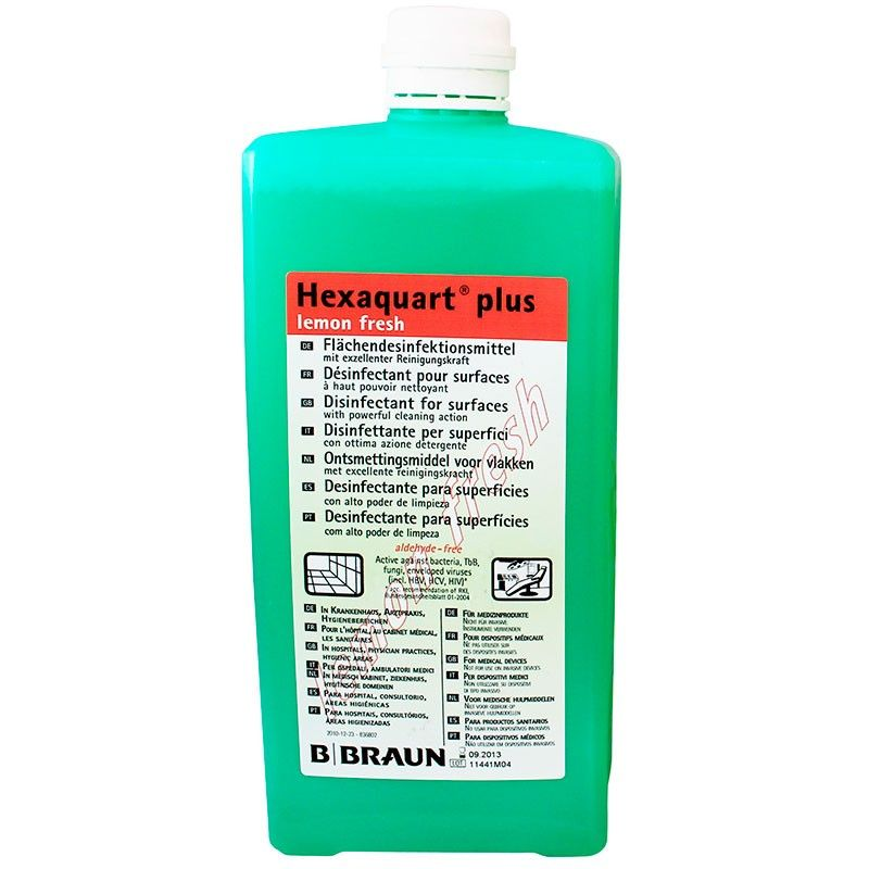 Desinfectante De Superficies Hexaquart Plus Lemon 1 L