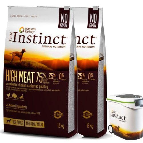 True Instinct pienso para perros adultos High Meat pollo