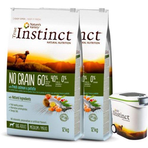 True Instinct pienso para perros adultos No Grain salmon