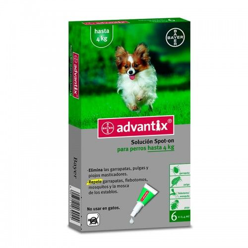 Bayer Pipetas advantix de 1 a 4 kg 6 pipetas