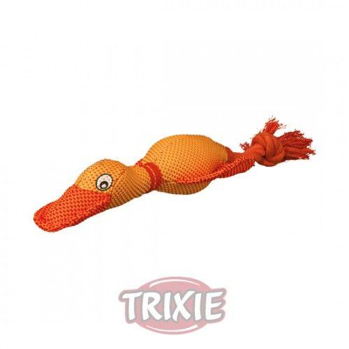Trixie Pato con Cuerda, Poliéster, 38 cm