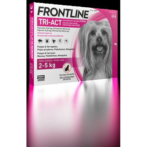 Merial Frontline tri-act 3 pipetas para perros protección total 2-5 kg