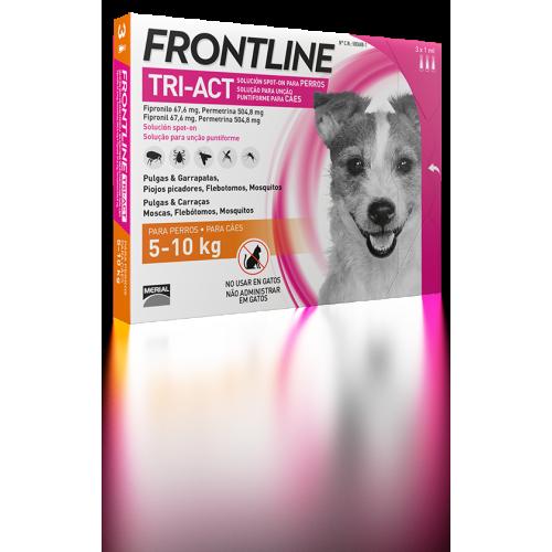 Merial Frontline tri-act 3 pipetas para perros protección total 5-10 kg