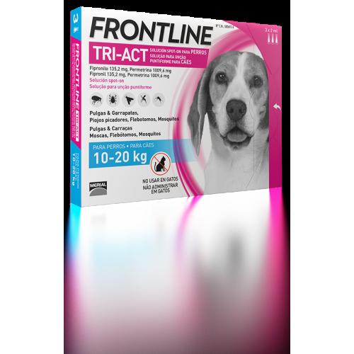 Merial Frontline tri-act 3 pipetas 10-20 kg CAD 03/2021