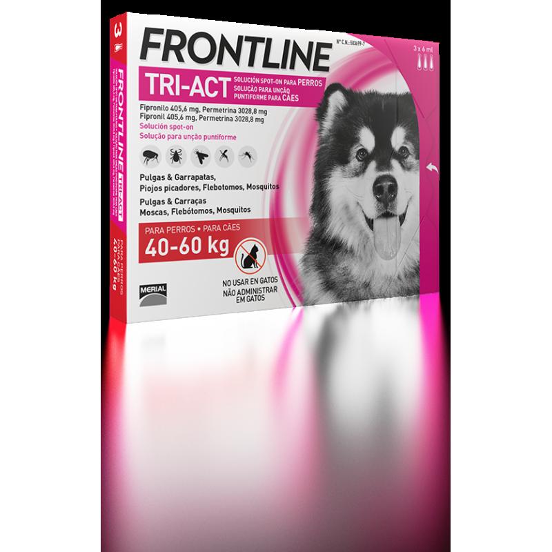 Merial Frontline tri-act 3 pipetas para perros protección total 40-60 kg