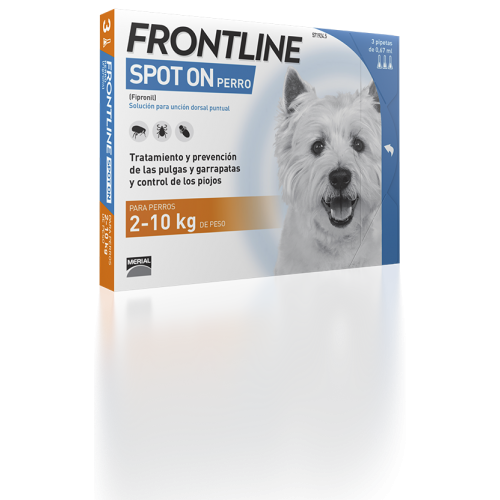 Merial Frontline spot on 2 a 10 kg 3 pipetas