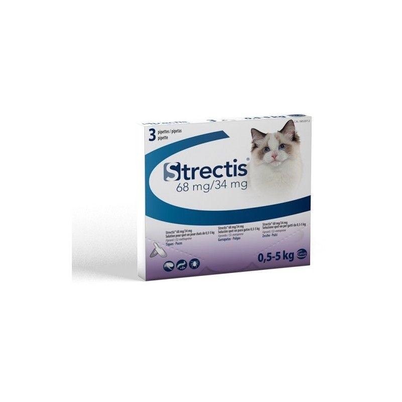 Ceva Strectis Spot On pipetas para gato de 0,5 - 5 kg