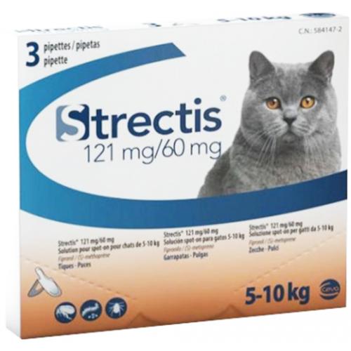 Ceva Strectis Spot On pipetas para gato de 5 - 10 kg.