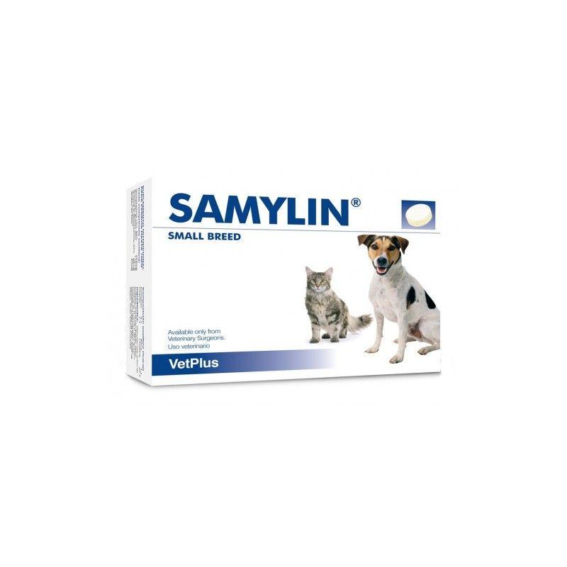Vetplus Samylin perros de raza pequeña y gatos 30 comprimidos