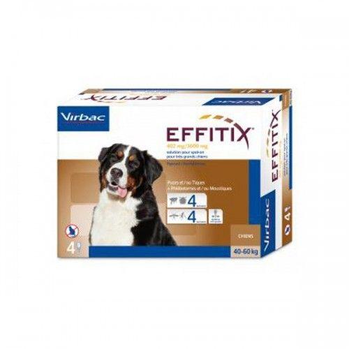 Virbac Effitix perro 40-60kg 4 pipetas individuales