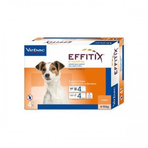 Virbac Effitix perro 4-10kg 24 pipetas
