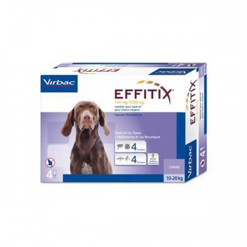 Effitix perro 10-20kg 24 pipetas