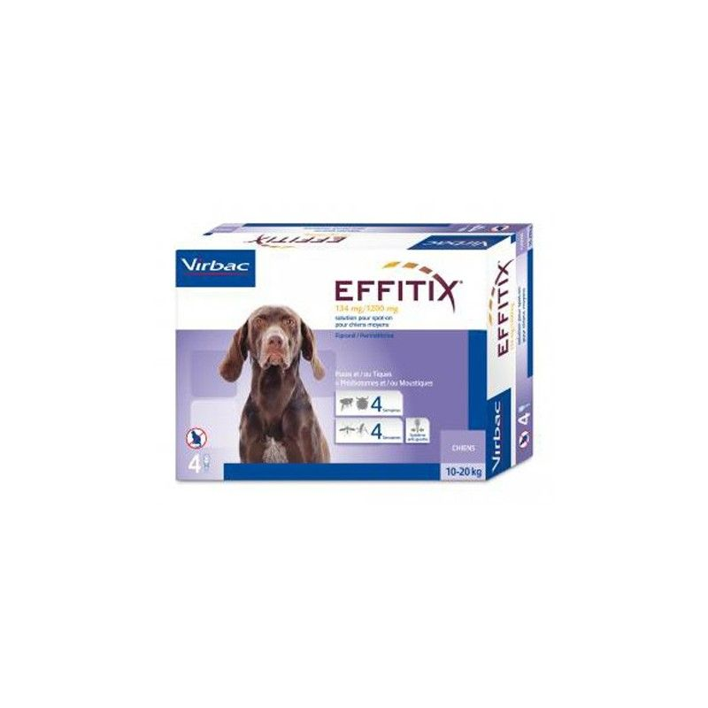 Virbac Effitix perro 10-20kg 24 pipetas