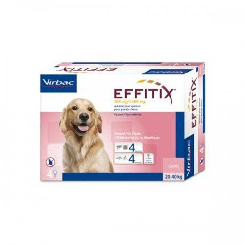 Effitix perro 20-40kg 24 pipetas