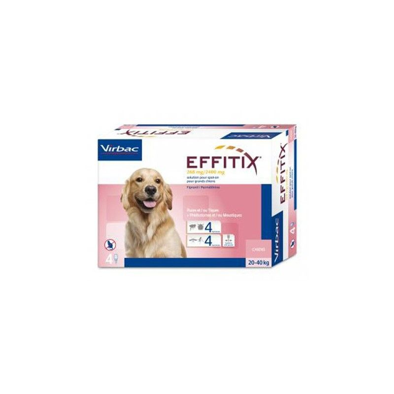 Virbac Effitix perro 20-40kg 24 pipetas