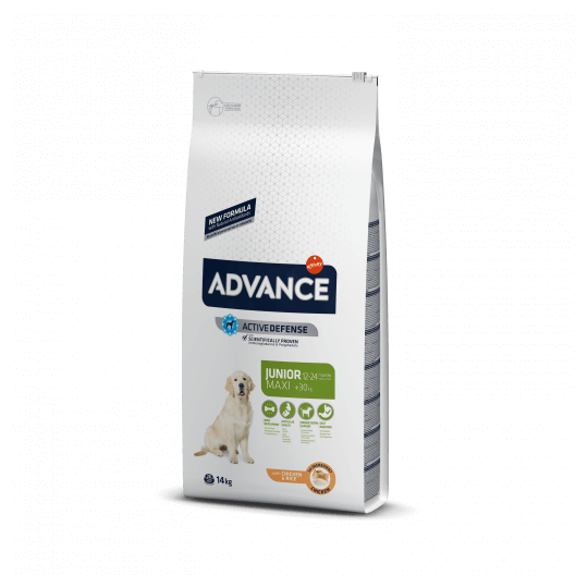 Advance junior maxi pollo y arroz 14 Kg