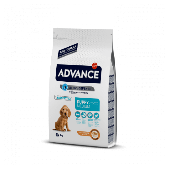 Advance puppy protect medium chicken & rice 3 Kg