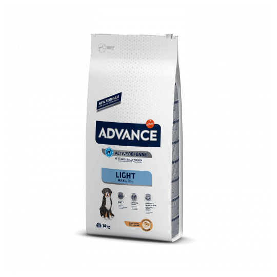 Advance adult maxi light pollo y arroz 14 Kg