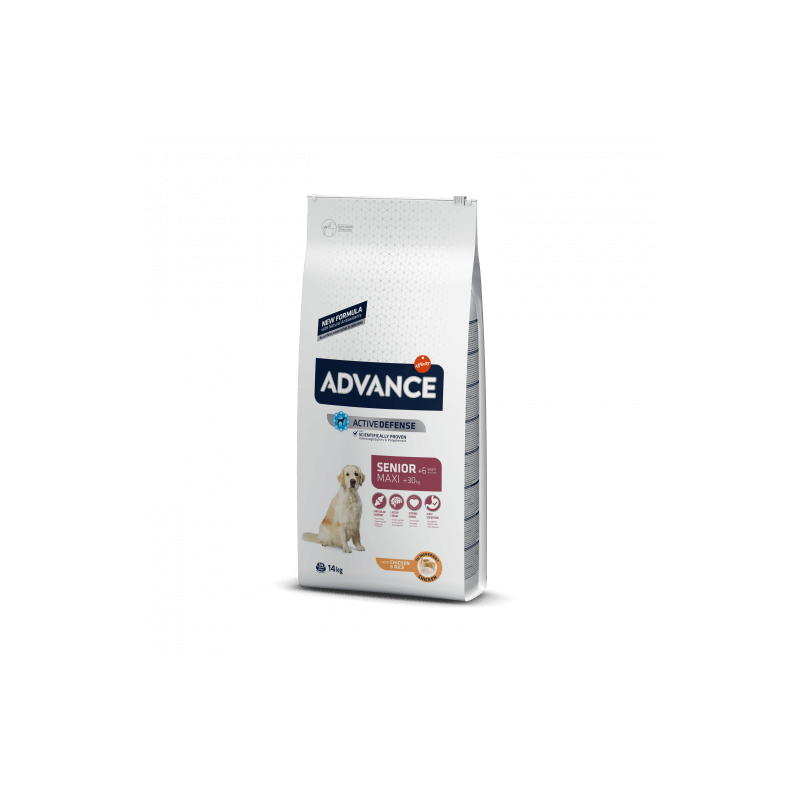 Advance adult maxi senior pollo y arroz 14 Kg