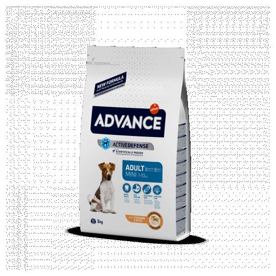 Advance mini adult pollo y arroz 3 Kg