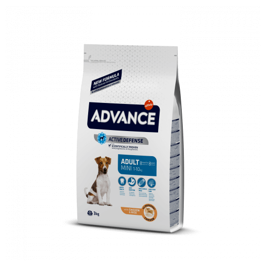 Advance mini adult pollo y arroz 3 Kg