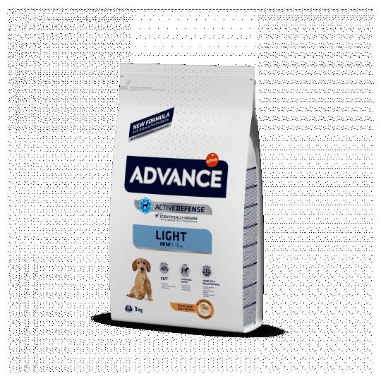 Advance mini light pollo y arroz 3 Kg