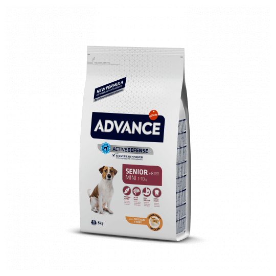 Advance mini senior pollo y arroz 3 Kg