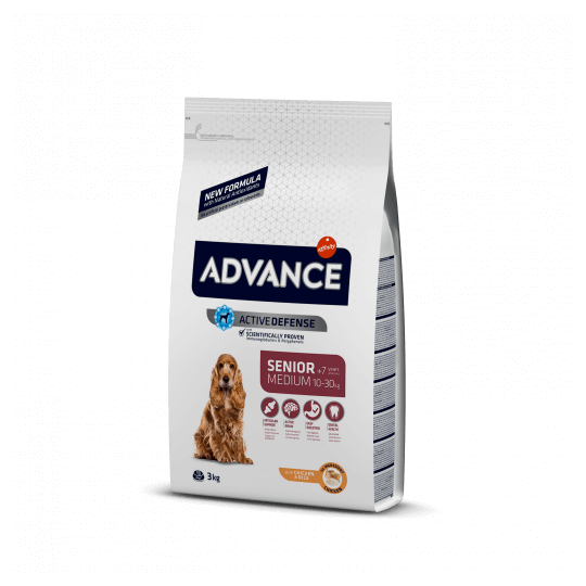 Advance medium senior pollo y arroz 12 Kg