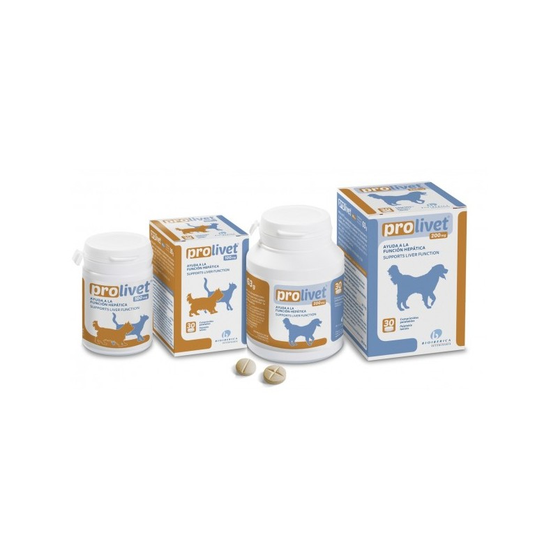 Bioiberica Prolivet para perros y gatos 100 mg