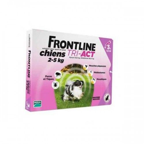 Frontline tri-act 3 pipetas para perros protección total 2-5 kg